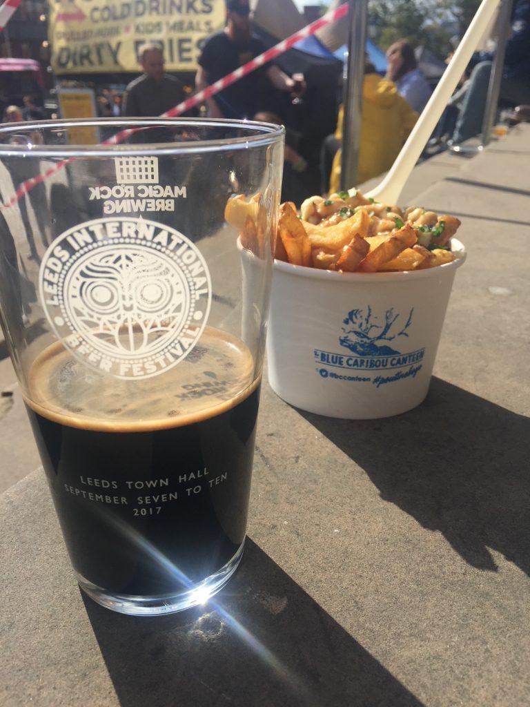 Bier met port en chips and gravy Leeds Foodblog Foodinista