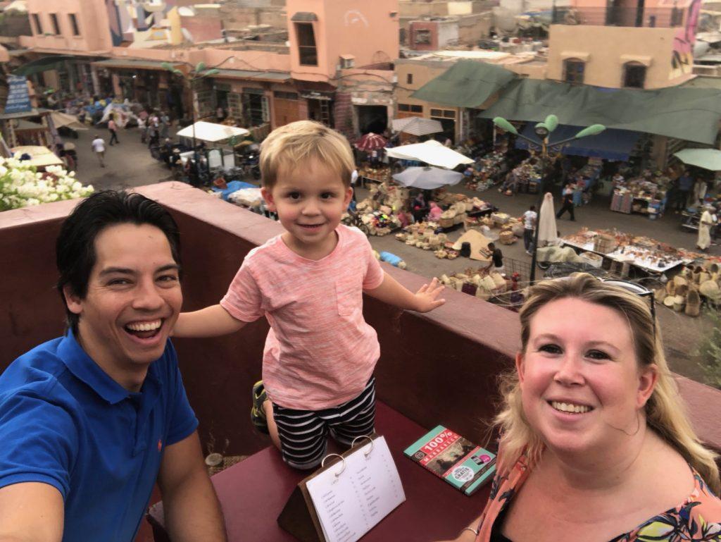 Dakterras Marrakech reisverhalen Foodinista