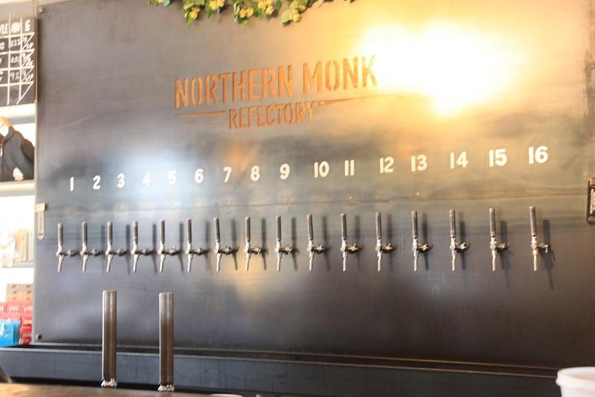 De wisseltap bij Northern Monk in Leeds vol speciaal bier