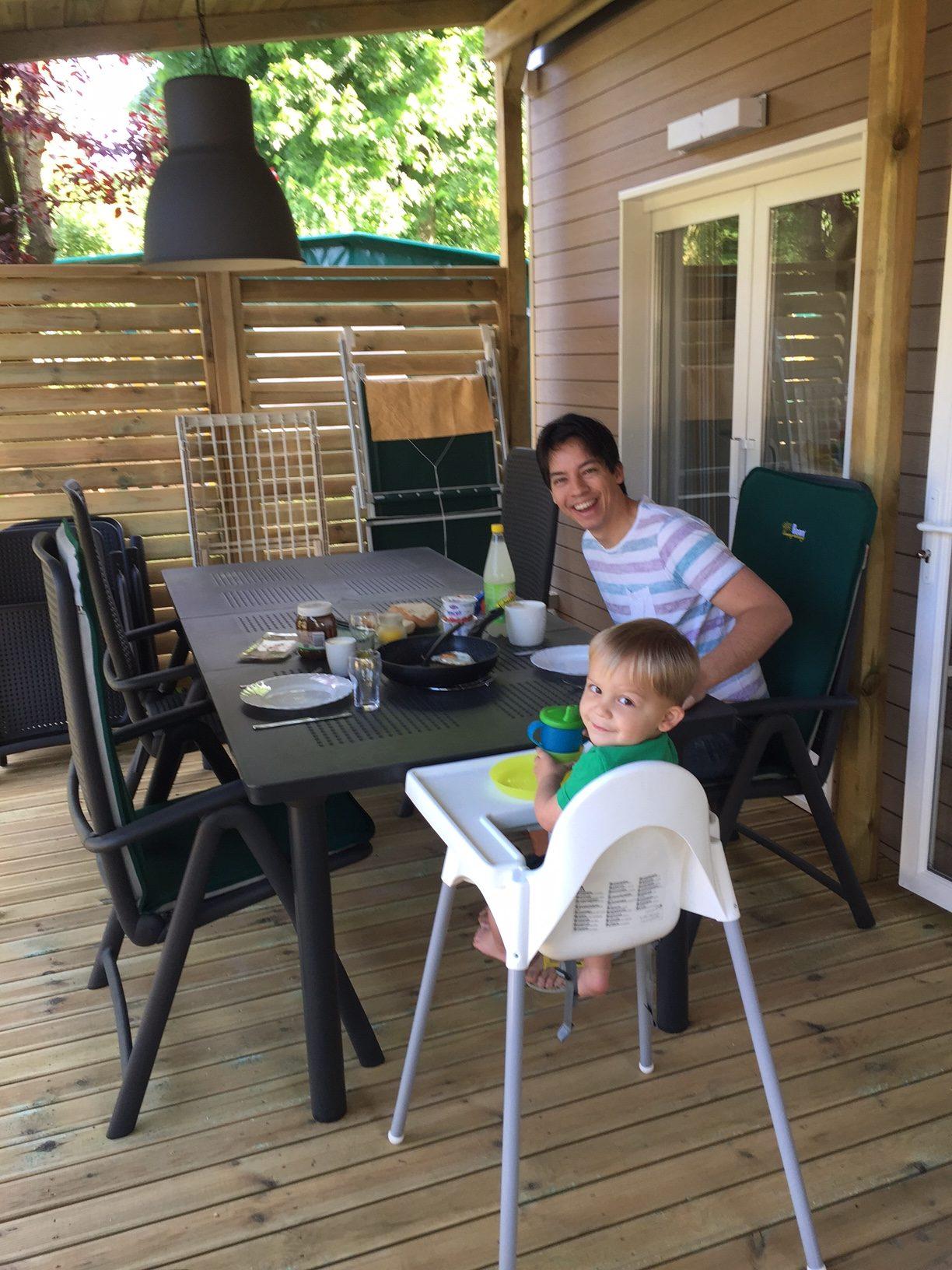 Ontbijt bij Roan Caravan aan de Adriatische kust camping Portofelice reisverhalen Foodinista
