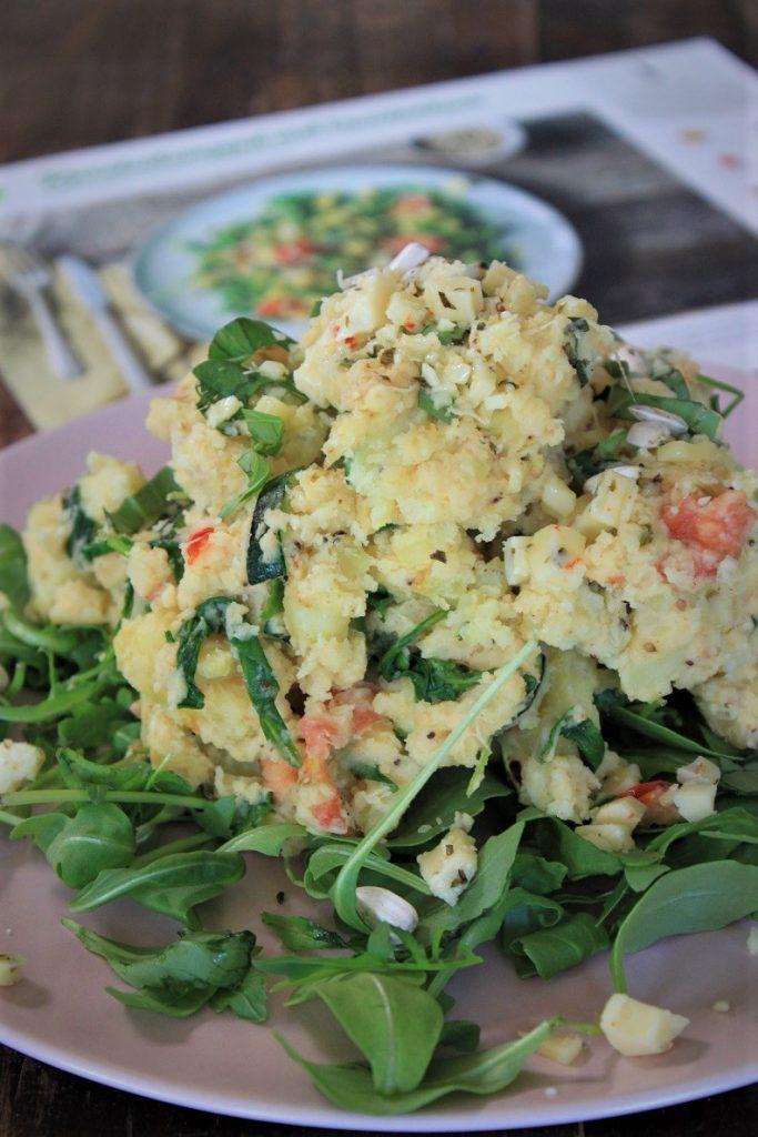 Stamppot met rucola en kruidenkaas recept van Hello Fresh Foodblog Foodinista