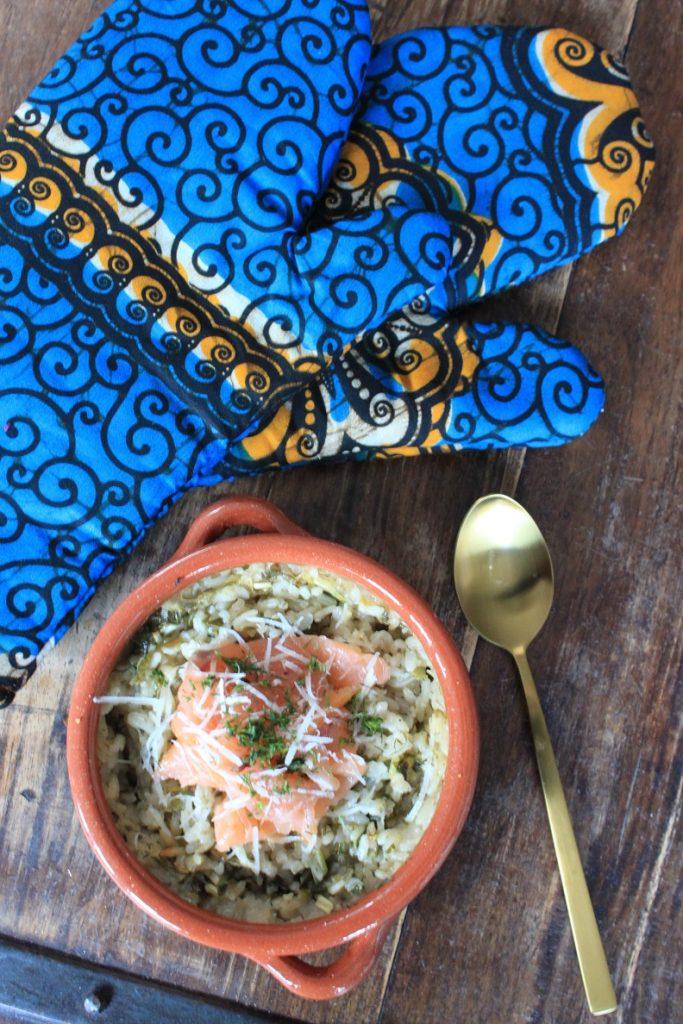 Risotto uit de oven met verse kruiden zalm recept van Foodblog Foodinista