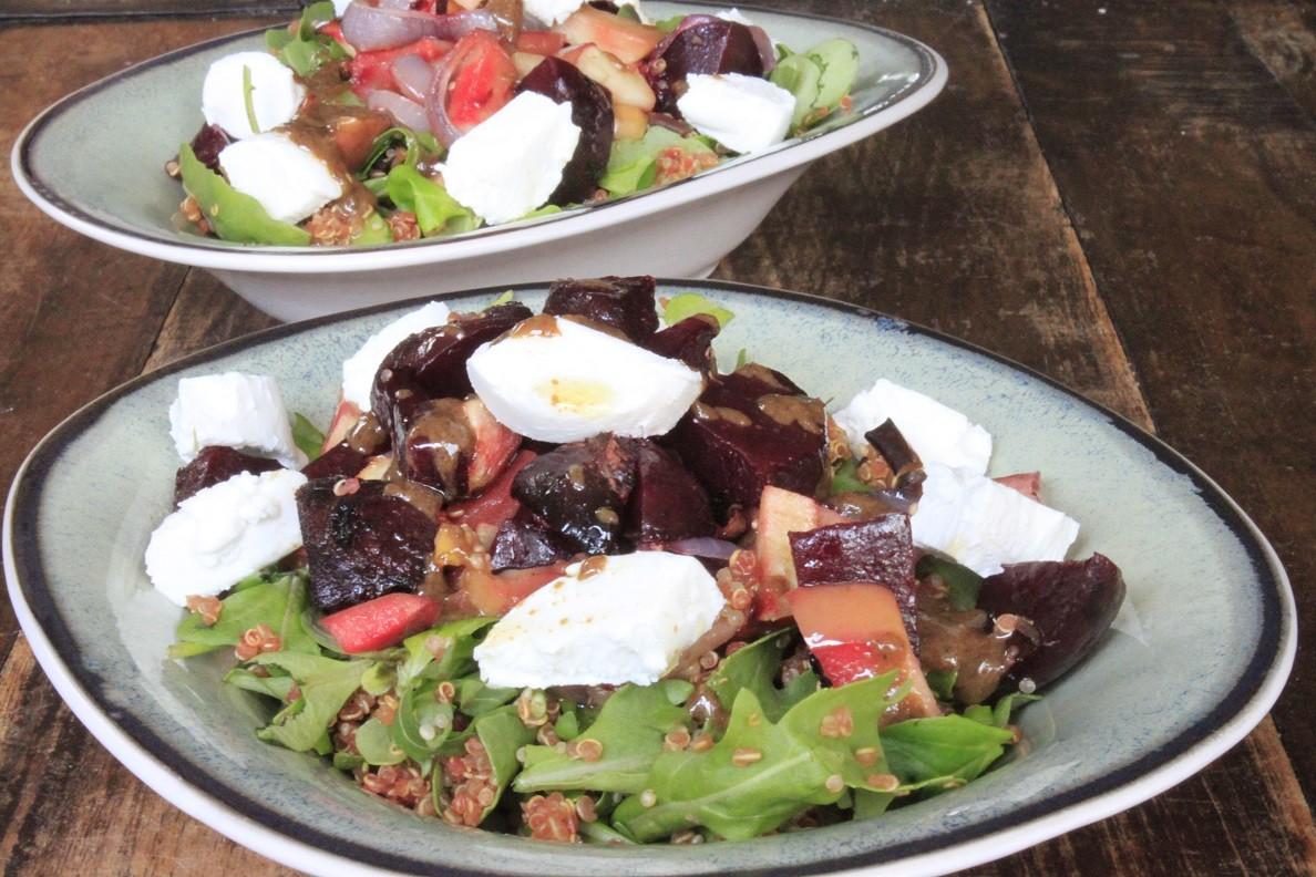 Quinoa salade met beitjes en geitenkaas recept van Foodblog Foodinista