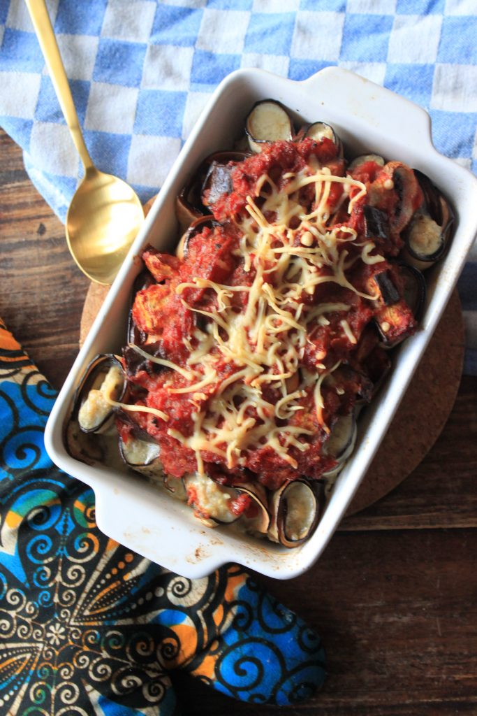 Aubergine cannelloni met kipgehakt ovenschotel recept van Foodblog Foodinista