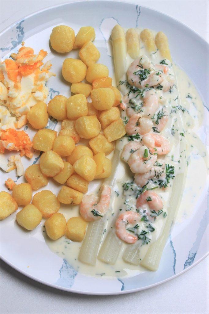 Asperges in roomsaus met garnalen recept van Foodblog Foodinista