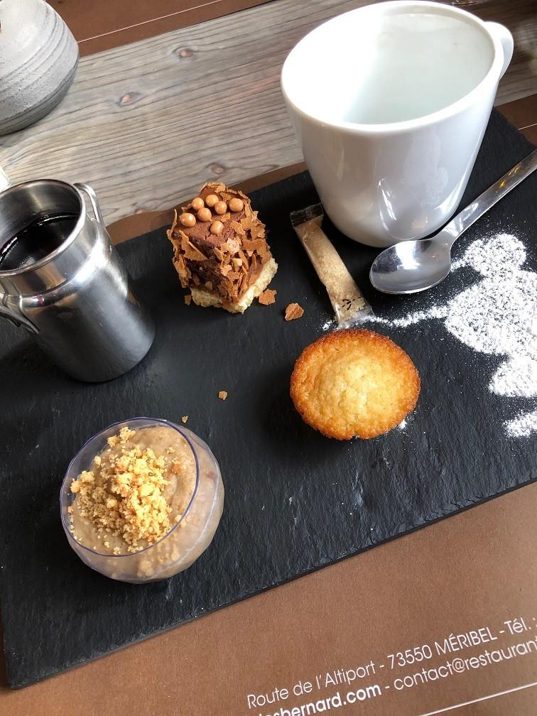 Petit Dessert bij Le Clos Bernard restaurant tips in Méribel Savoie Foodblog Foodinista