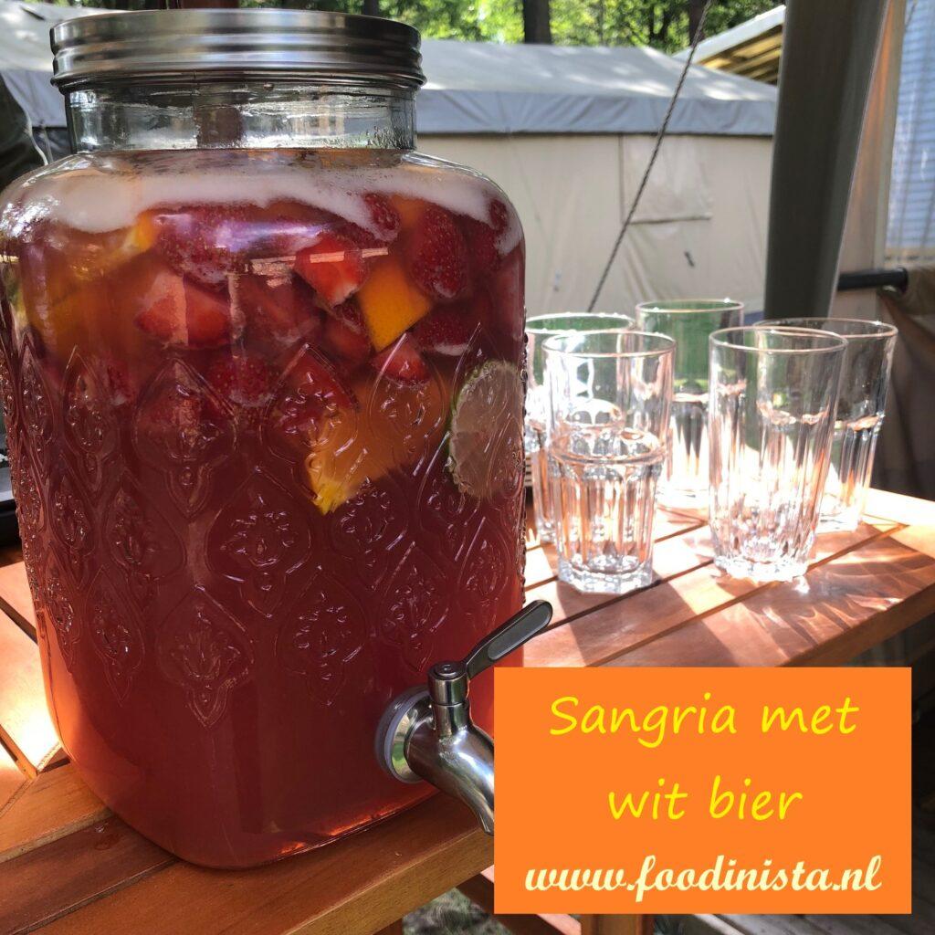 Sangria met wit bier - Zomers drankje van Foodblog Foodinista