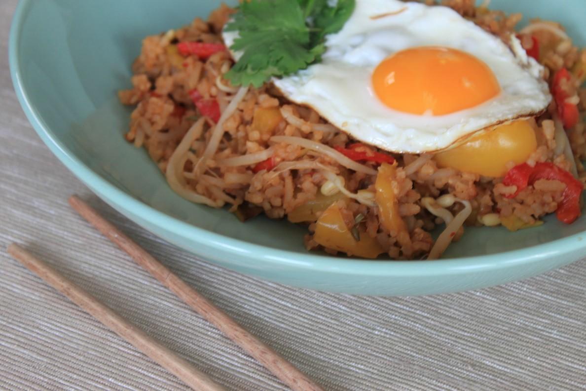Nasi met gebakken ei recept van Foodblog Foodinista