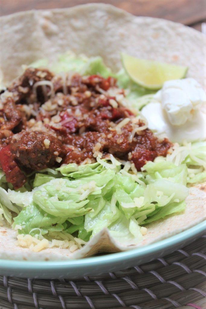 Recept voor Mexicaans stoofvlees met tortilla's van Foodblog Foodinista