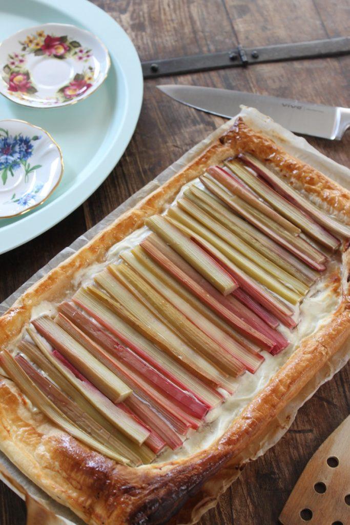 Rabarbertaart met geitenkaas recept van Foodblog Foodinista