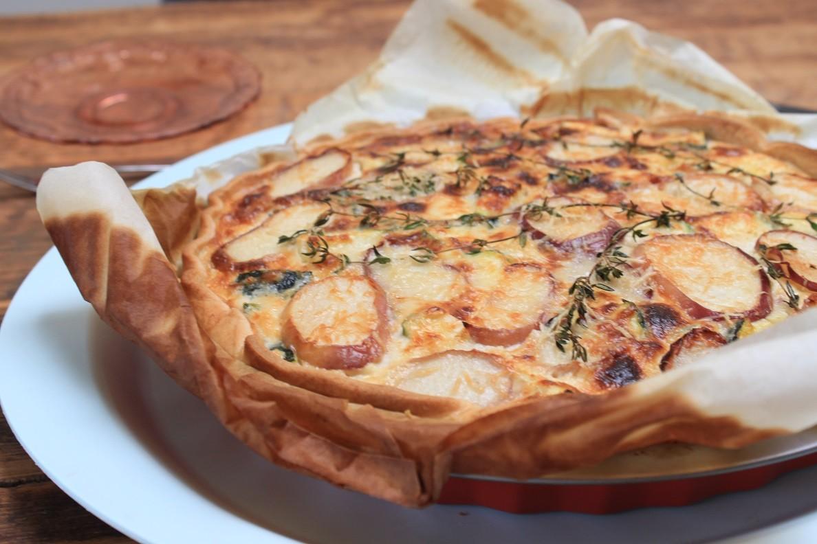 Hartige taart met geitenkaas en perzik recept van Foodblog Foodinista