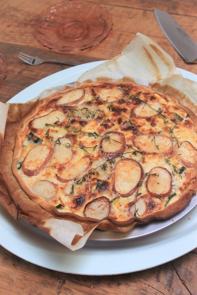 Quiche recept met perzik, courgette en geitenkaas van Foodblog Foodinista