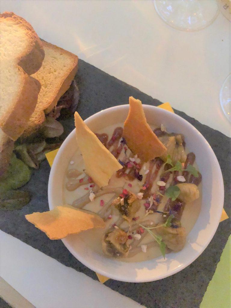 Fois gras voorgerecht bij Zeller Bistro in Budapest luxe dineren restaurant tips in Hongarije