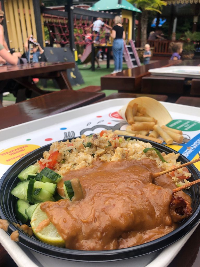 Nasi met saté en loempiaatjes toko bij Julianatoren dagje uit met kinderen in Apeldoorn eettips Foodblog Foodinista
