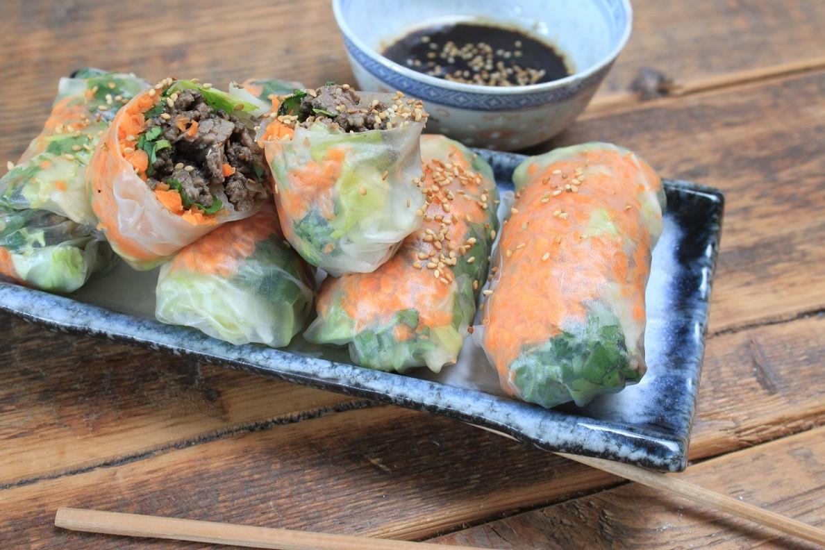 Springrolls met tartaar en gemengde groente recept van Foodblog Foodinista