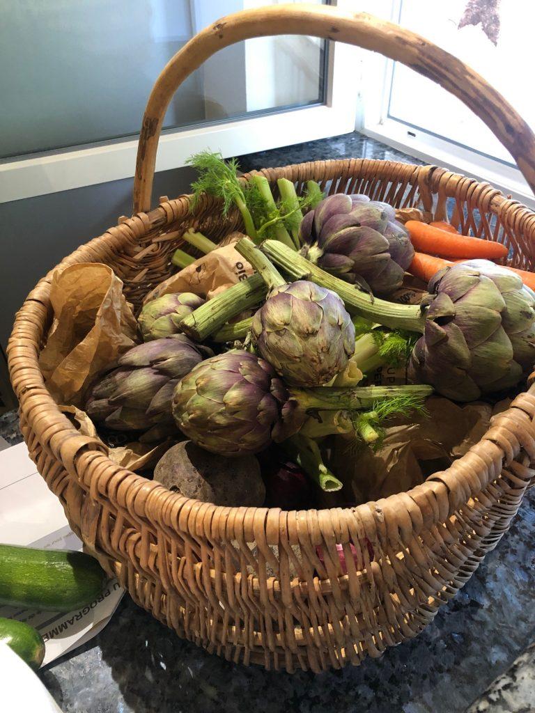 Gevulde mand met groente en kruiden kookworkshop in de Ardèche bij l'oustalou in Frankrijk reis tips van Foodinista