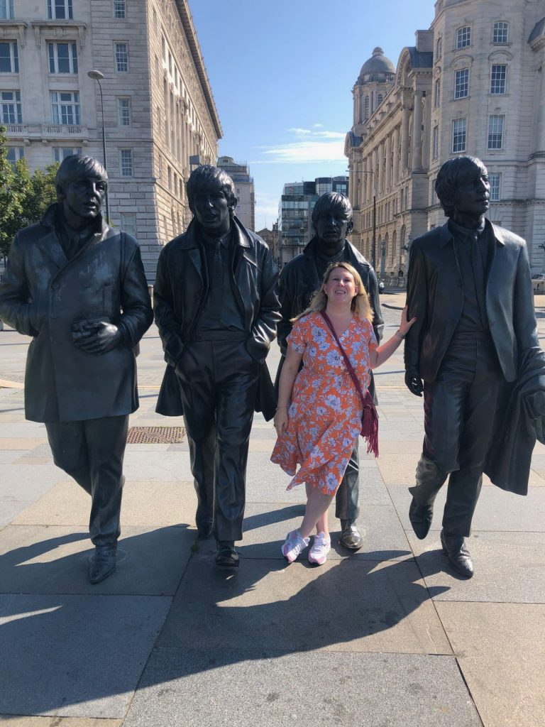 Beatles Statue in Liverpool Docks