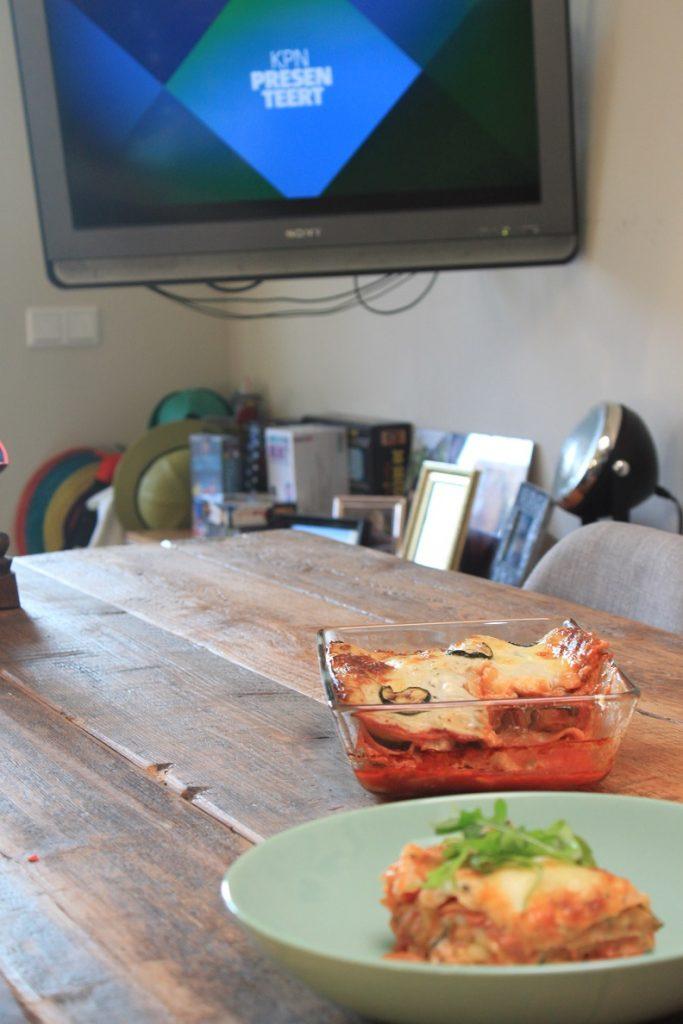 Lasagne met geroosterde courgette en salami van foodblog Foodinista