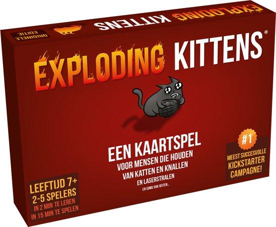 Leuke spelletjes voor op vakantie Exploding Kittens tips van Foodinista