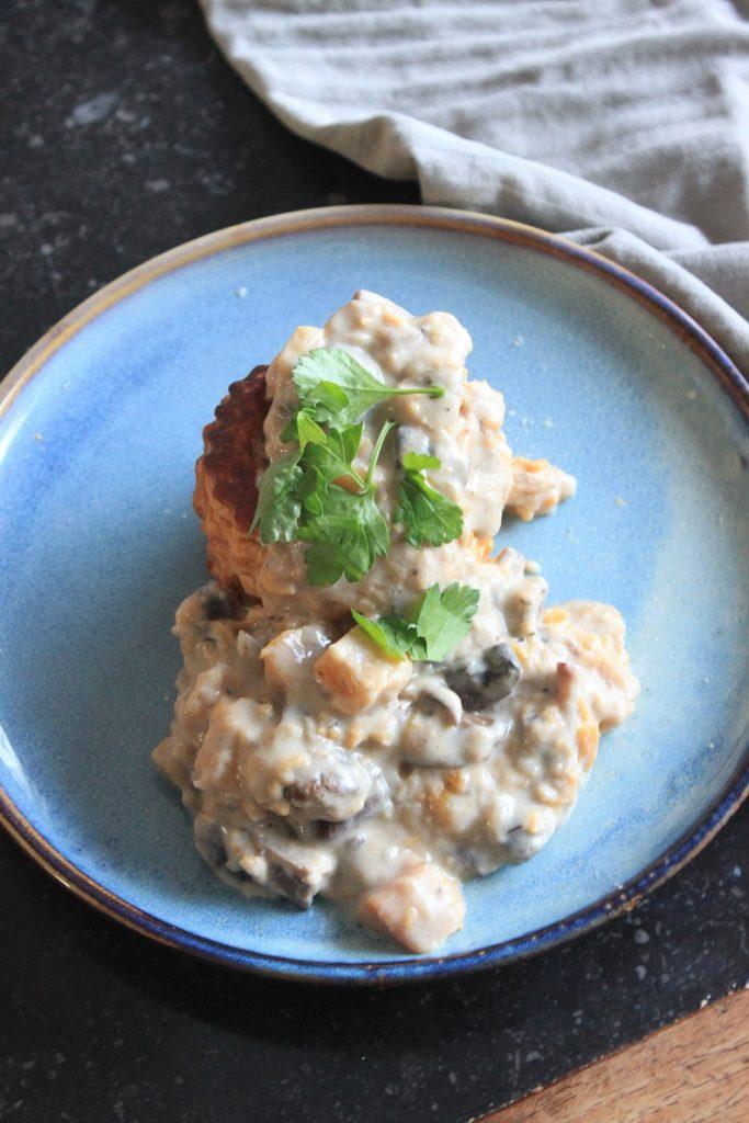 Pompoen en paddenstoelen recept - vegetarische ragout - recept van Foodblog Foodinista