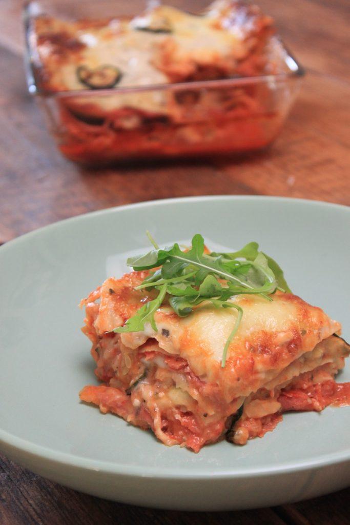 Ovenschotel Lasagne met courgette en salami recept van Foodblog Foodinista