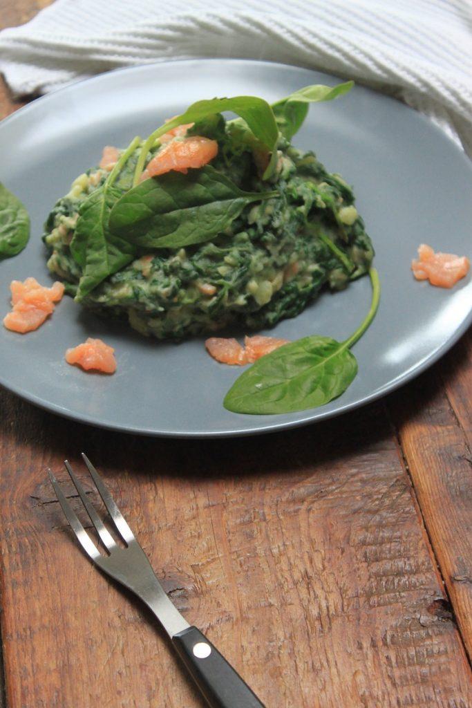 Spinaziestamppot met zalm en dillemosterd recept van Foodblog Foodinista