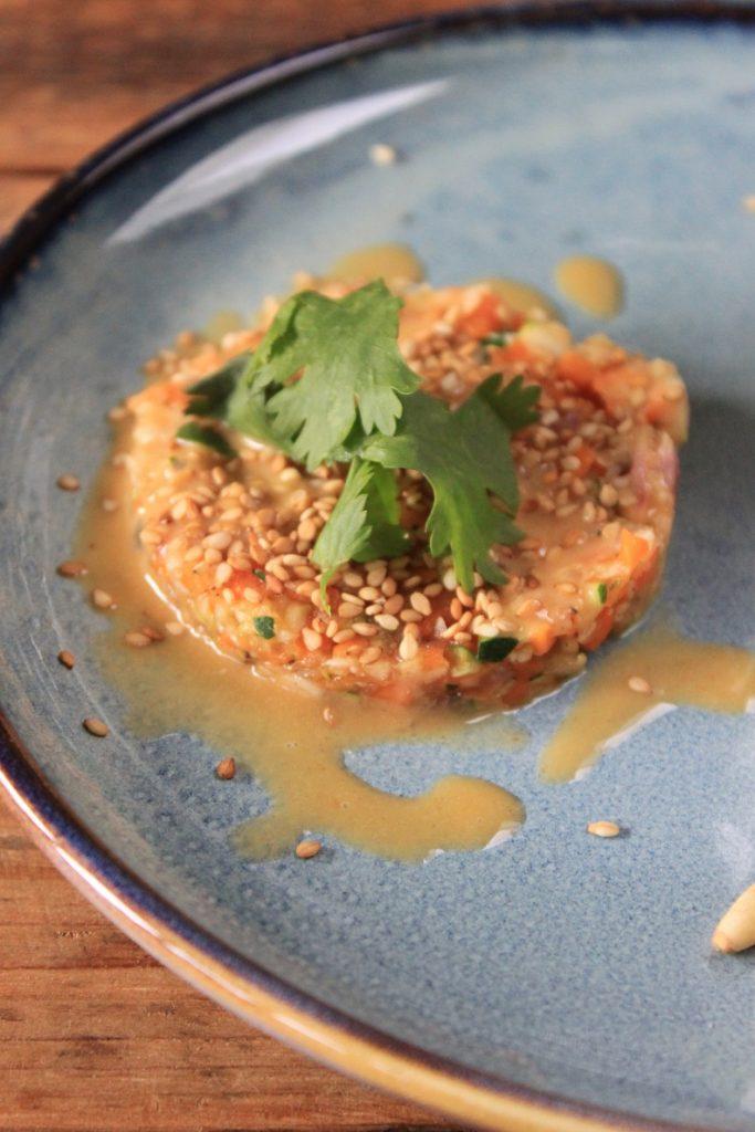 Trio van Courgette met recept voor courgette tartaar van Foodblog Foodinista