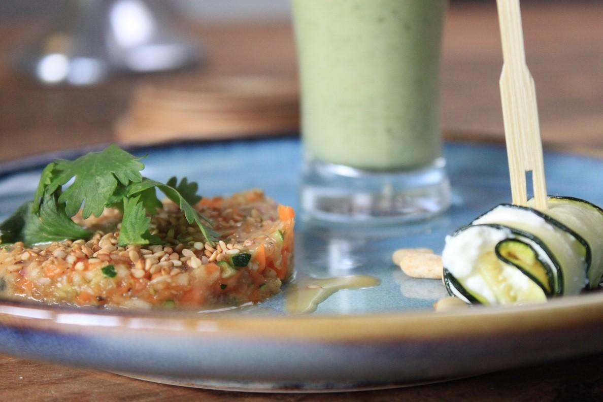 Trio van courgette vegetarisch voorgerecht van Foodblog Foodinista