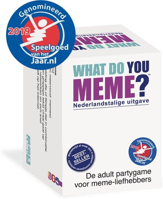 Gezellige gezelschapsspellen voor bij een borrelplank What do you Meme tips van Foodinista