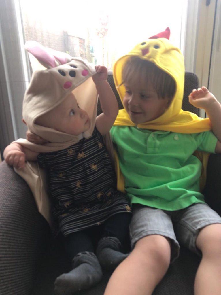 Pasen met de kindjes verkleden Jaaroverzicht Foodblog Foodinista 2019