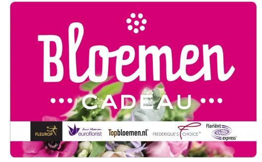 Cadeaukaarten tips van Foodinista Bloemen cadeau cadeaubon