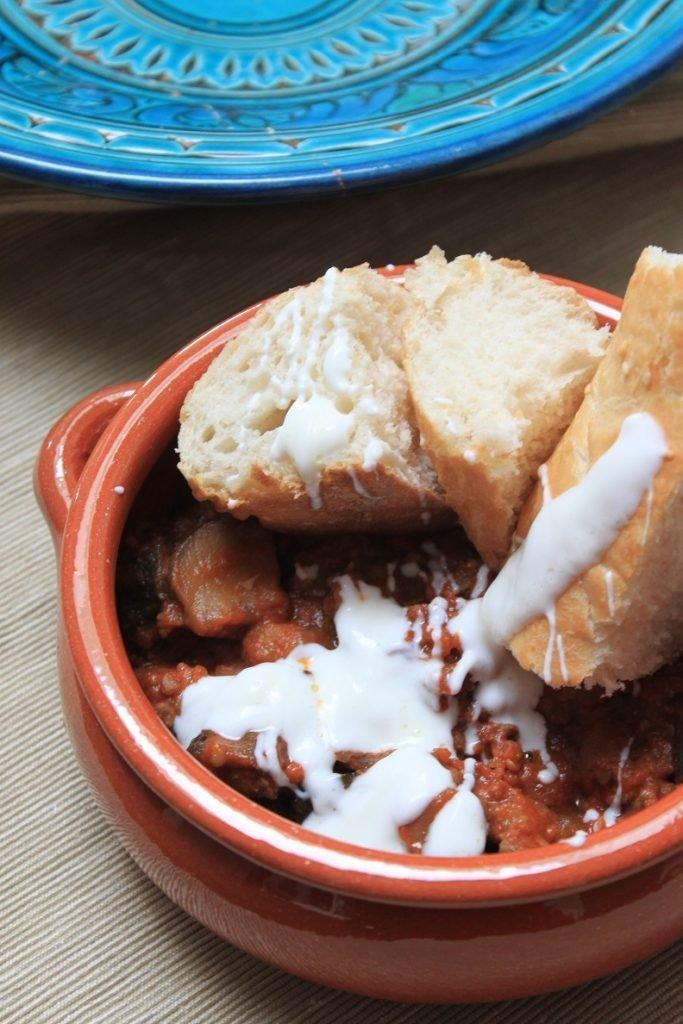 Stoofschotel met gehakt en aubergine van Foodblog Foodinista