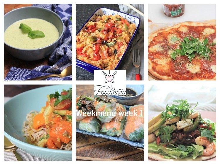 Foodblog Foodinista weekmenu - Week 1 - 2020 - van zuurkool tot springrolls