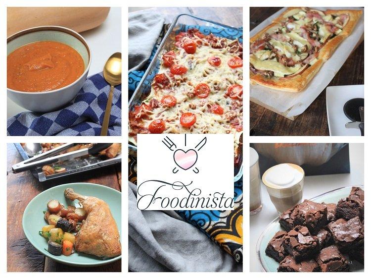 Foodblog Foodinista weekmenu – Week 3 - Van pompoensoep tot chocoladebrownies