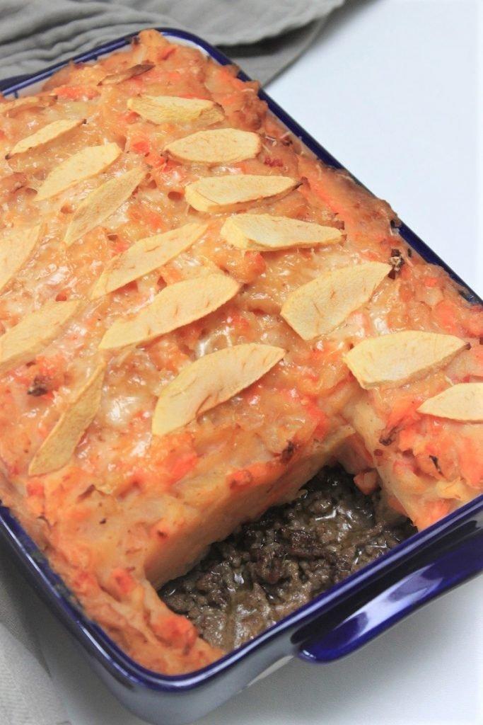 Hutspot ovenschotel met gehakt en appel recept van Foodblog Foodinista