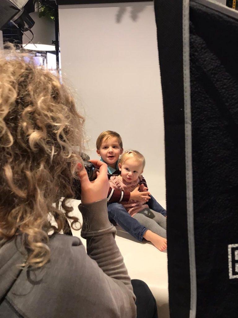 Fotoshoot voor de kinderen