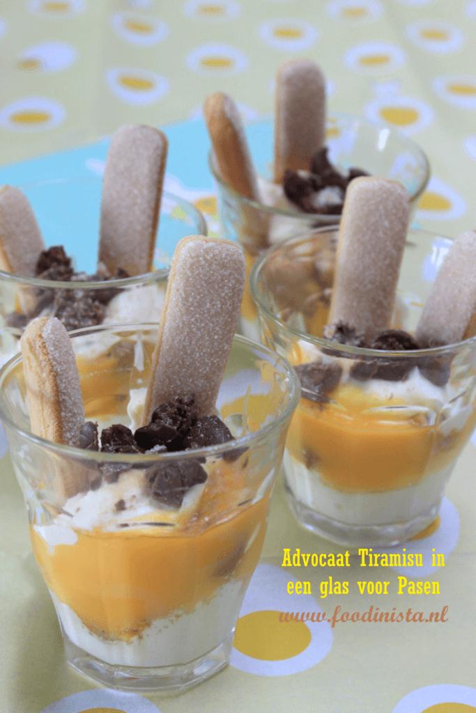 Tiramisu met advocaat in een glas - Recept van Foodblog Foodinista