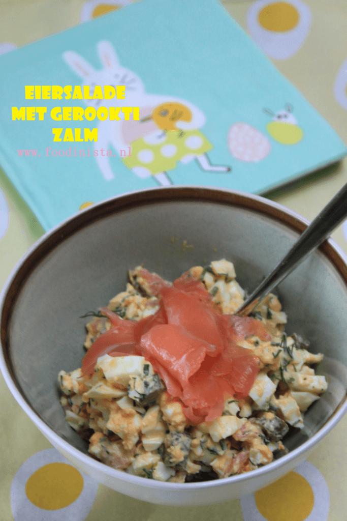 Eiersalade met gerookte zalm recept - Foodblog Foodinista