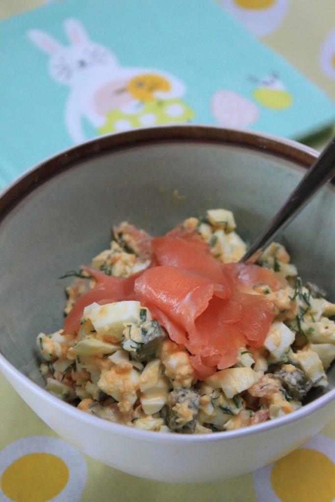 Eiersalade met gerookte zalm recept van Foodblog Foodinista
