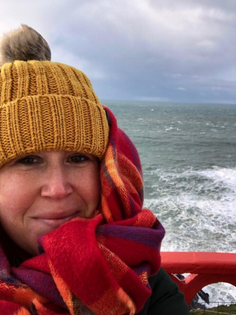 Uitwaaien op de Galley Head Lighthouse het puntje van Europa in Ierland