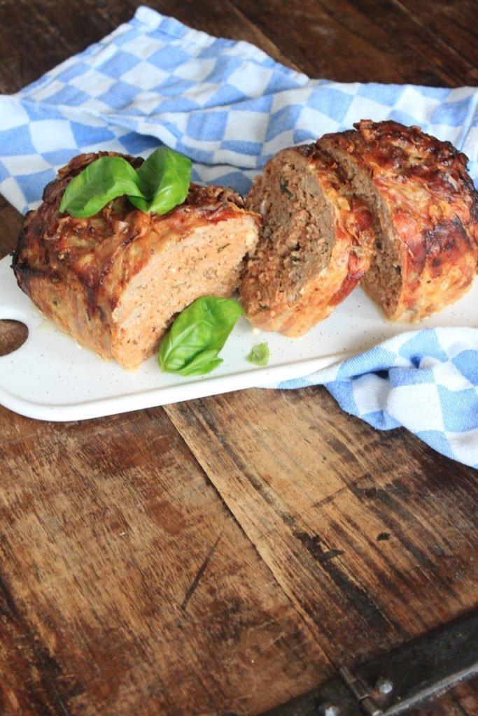 Recept Italiaans gehaktbrood met pancetta, mozzarella en Italiaanse kruiden van Foodblog Foodinista