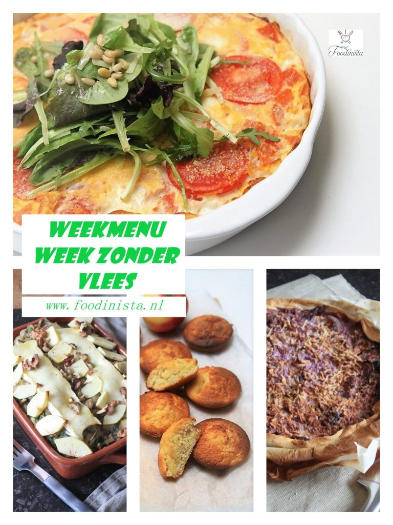 Weekmenu voor de week zonder vlees - Foodblog Foodinista
