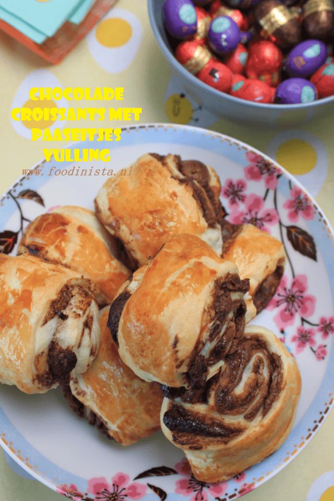 Chocolade croissant met paaseitjes vulling - Foodblog Foodinista