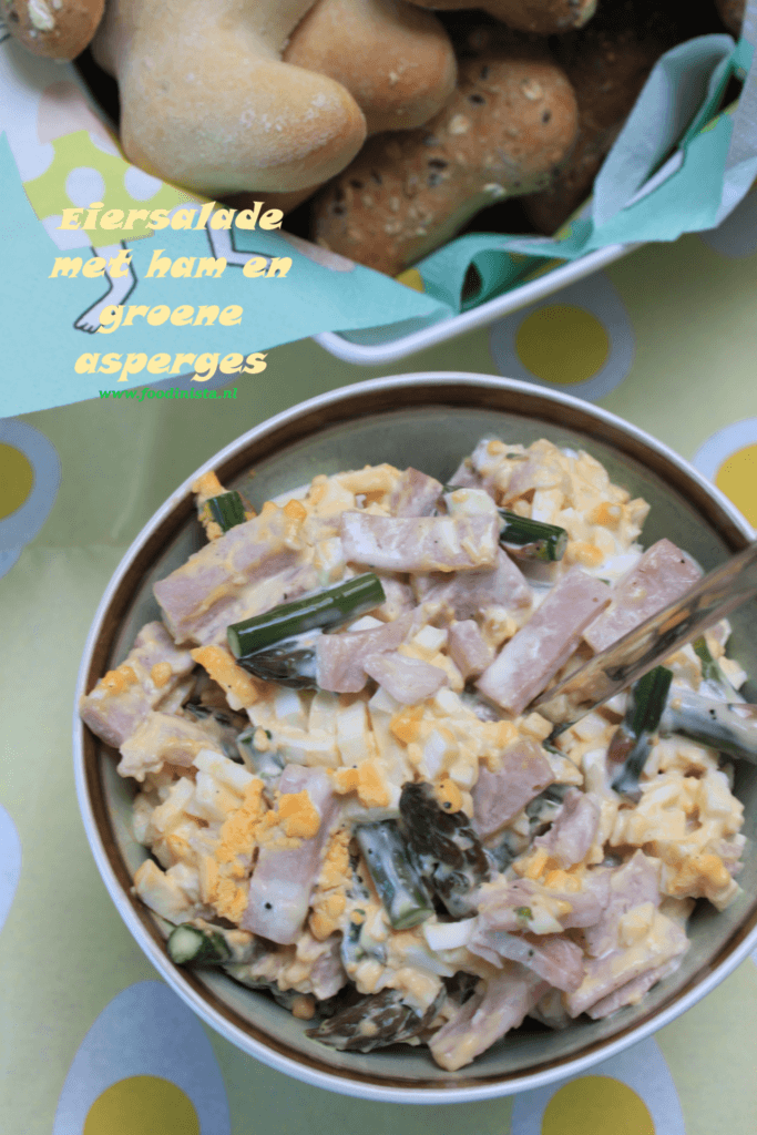 Eiersalade met ham en groene asperges - Foodblog Foodinista