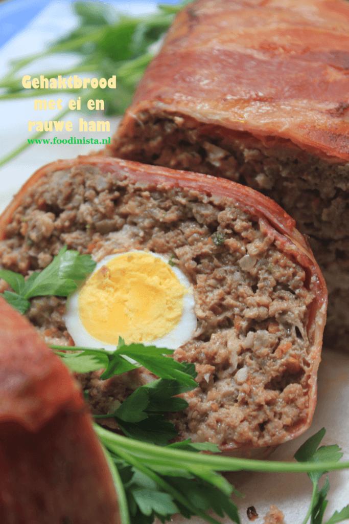 Gehaktbrood met ei en rauwe ham - Foodblog Foodinista