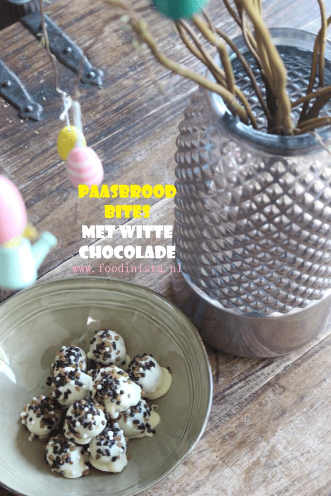 Paasbrood bites met witte chocolade - Foodblog Foodinista