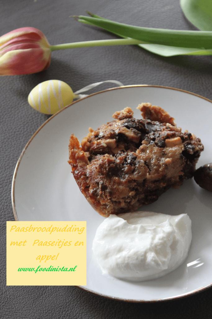Paasbrood broodpudding met paaseitjes en appel - Foodblog Foodinista