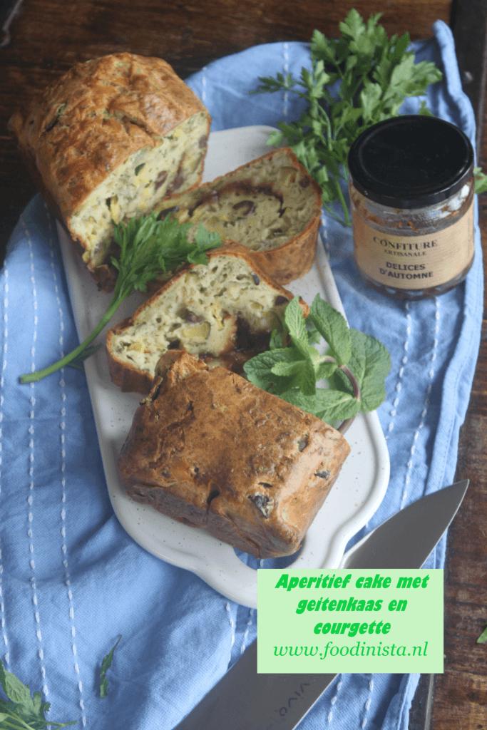 Hartige cake met courgette, geitenkaas en vijgen - Recept van Foodblog Foodinista