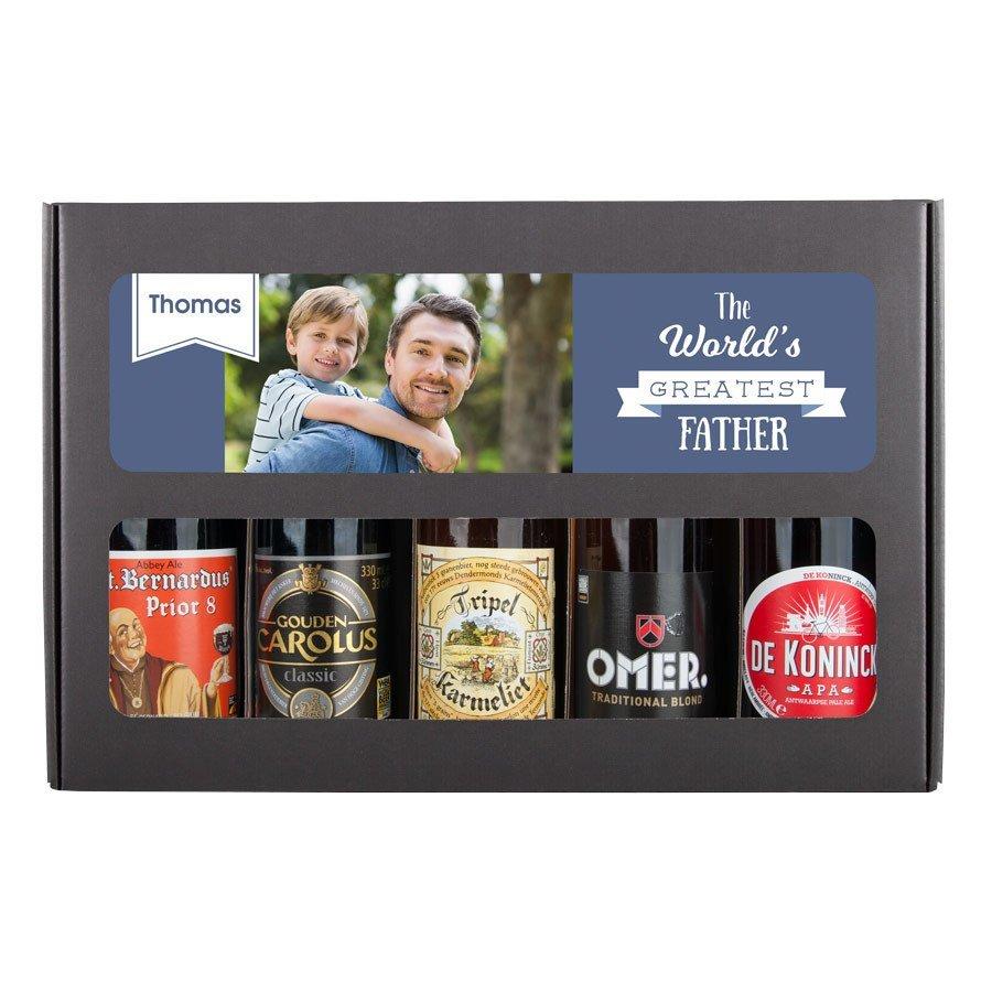 Vaderdag cadeau tips Gepersonaliseerd bierpakket tips van Foodblog Foodinista