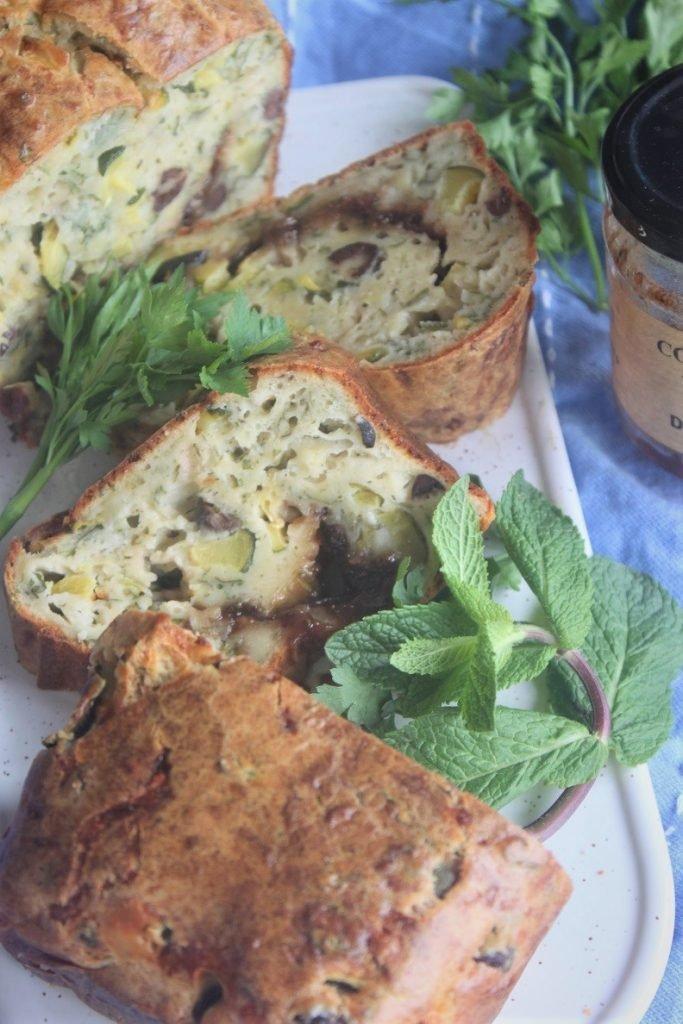 Courgettecake recept met geitenkaas en vijgenjam van Foodblog Foodinista